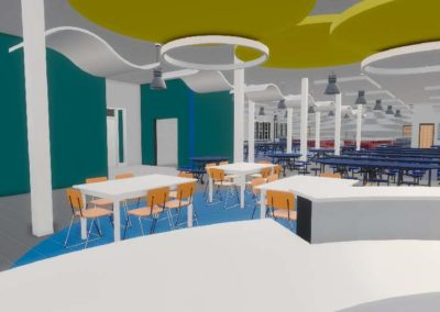 Caldwell County - Granite Falls - Middle School ~ Interior Rending Knowledge Commons 2