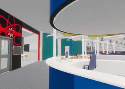 Caldwell County - Granite Falls - Middle School ~ Interior Rending Media Center 2