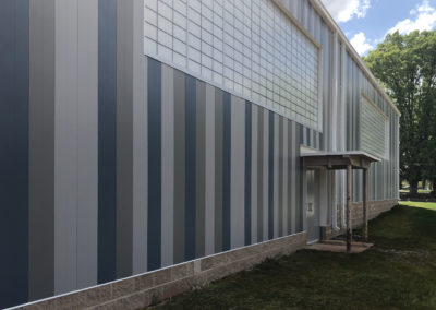 Newton Conover - Exceptional ~ exterior Gymnasium Striped tile wall (VM)