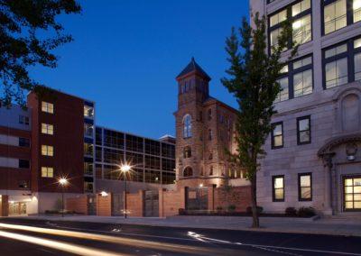 Reading - Intermediate High ~ Exterior, Chapel Facade at Night (MH)